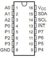 PCF8754-pinout